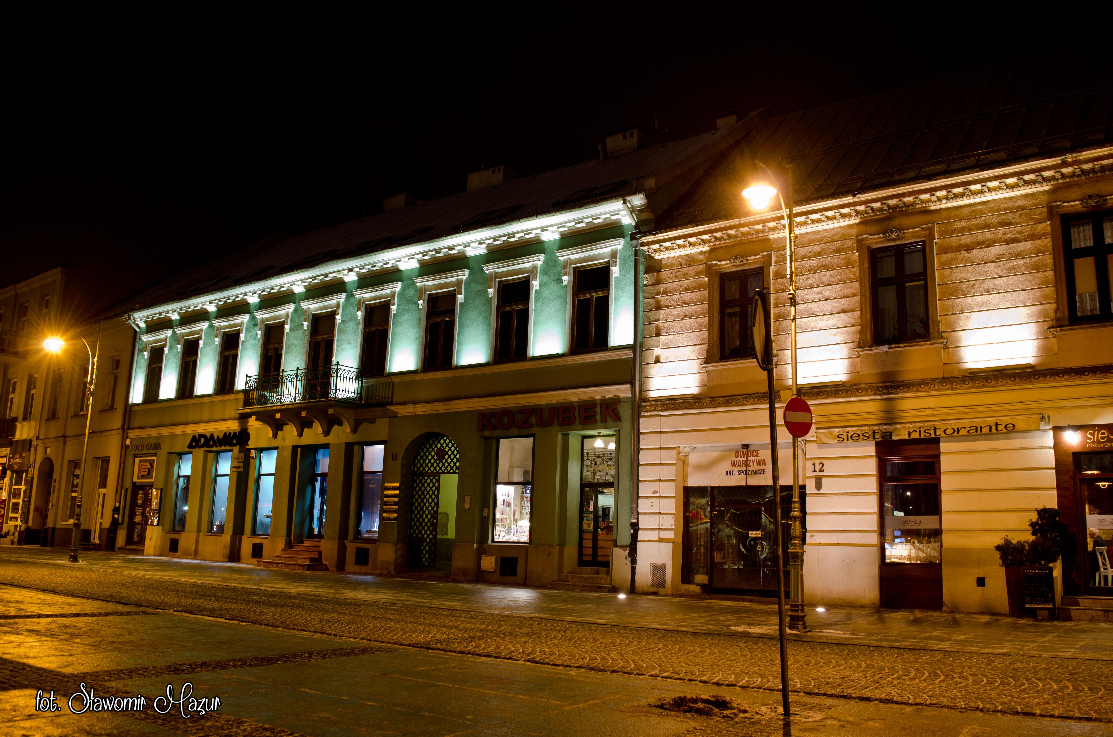 Kielce by night – city hall