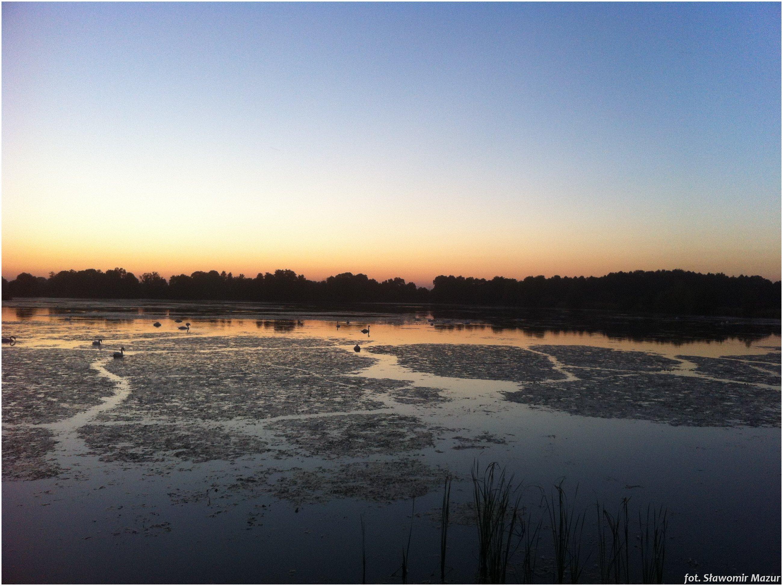 Sunset on the ponds near Oświęcim/zachód słońca na stawach koło Oświęcimia