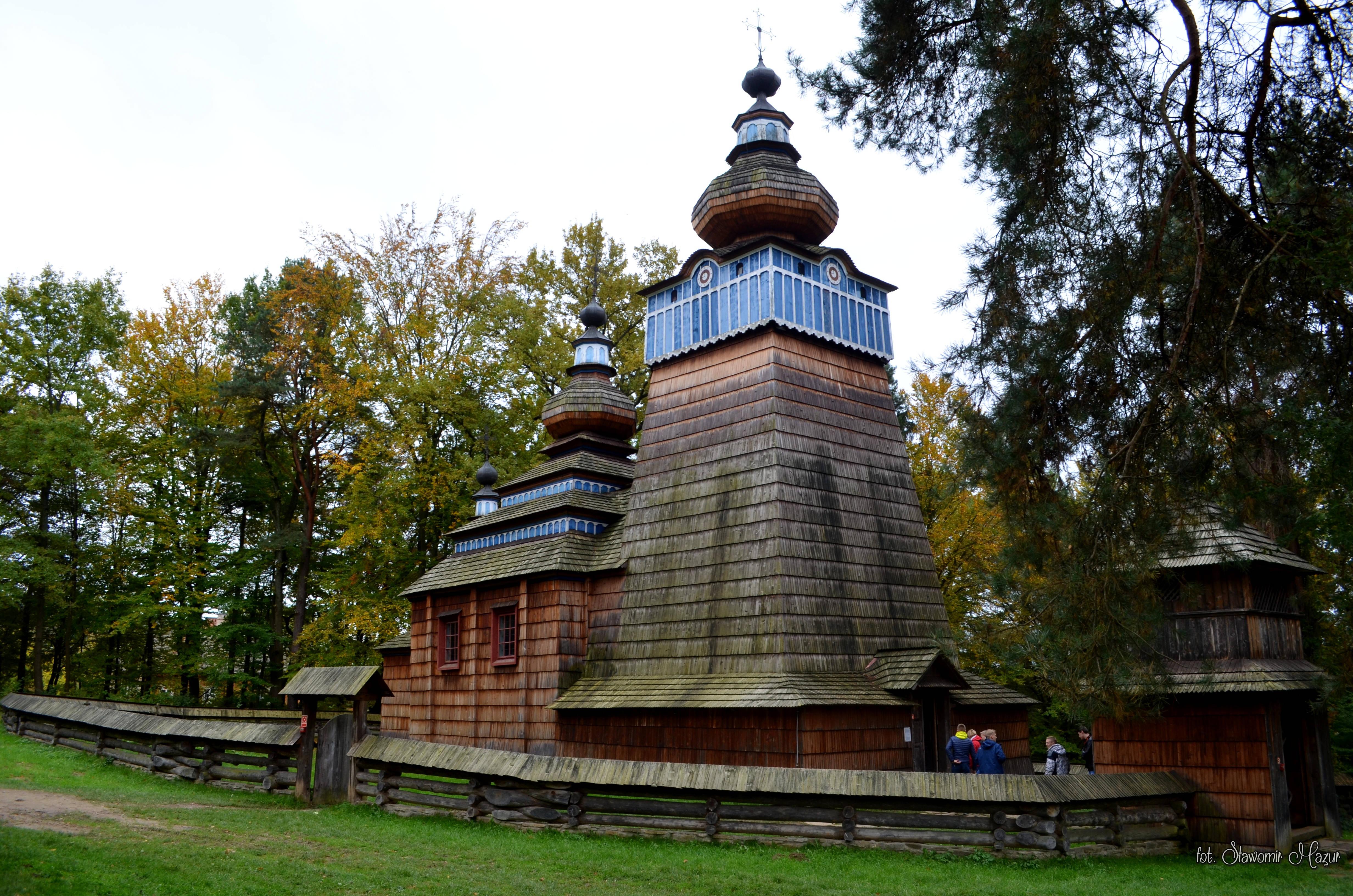 Cerkiew prawosławna w Parku Etnograficznym w Sanoku