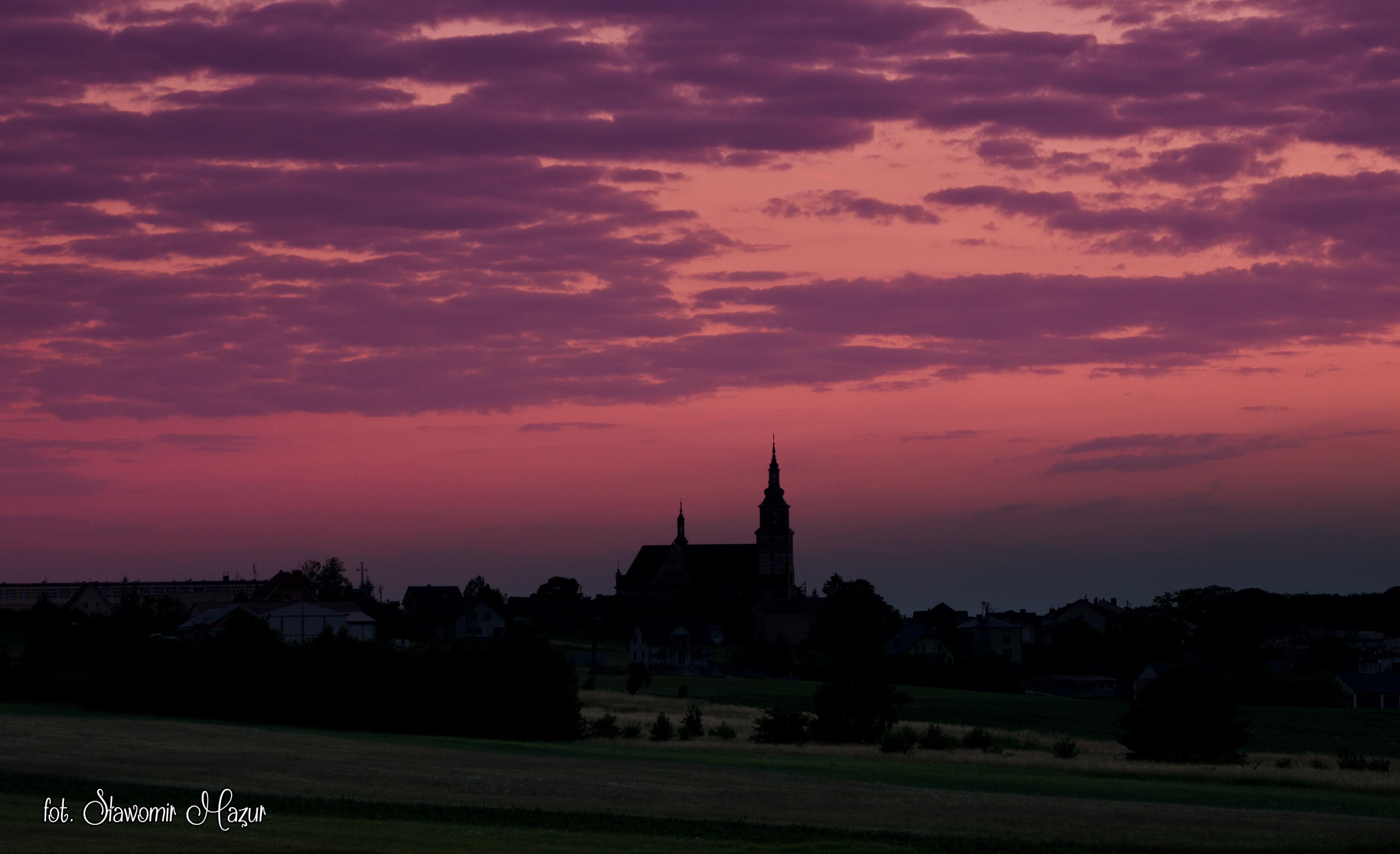 Łopuszno – zachód słońca