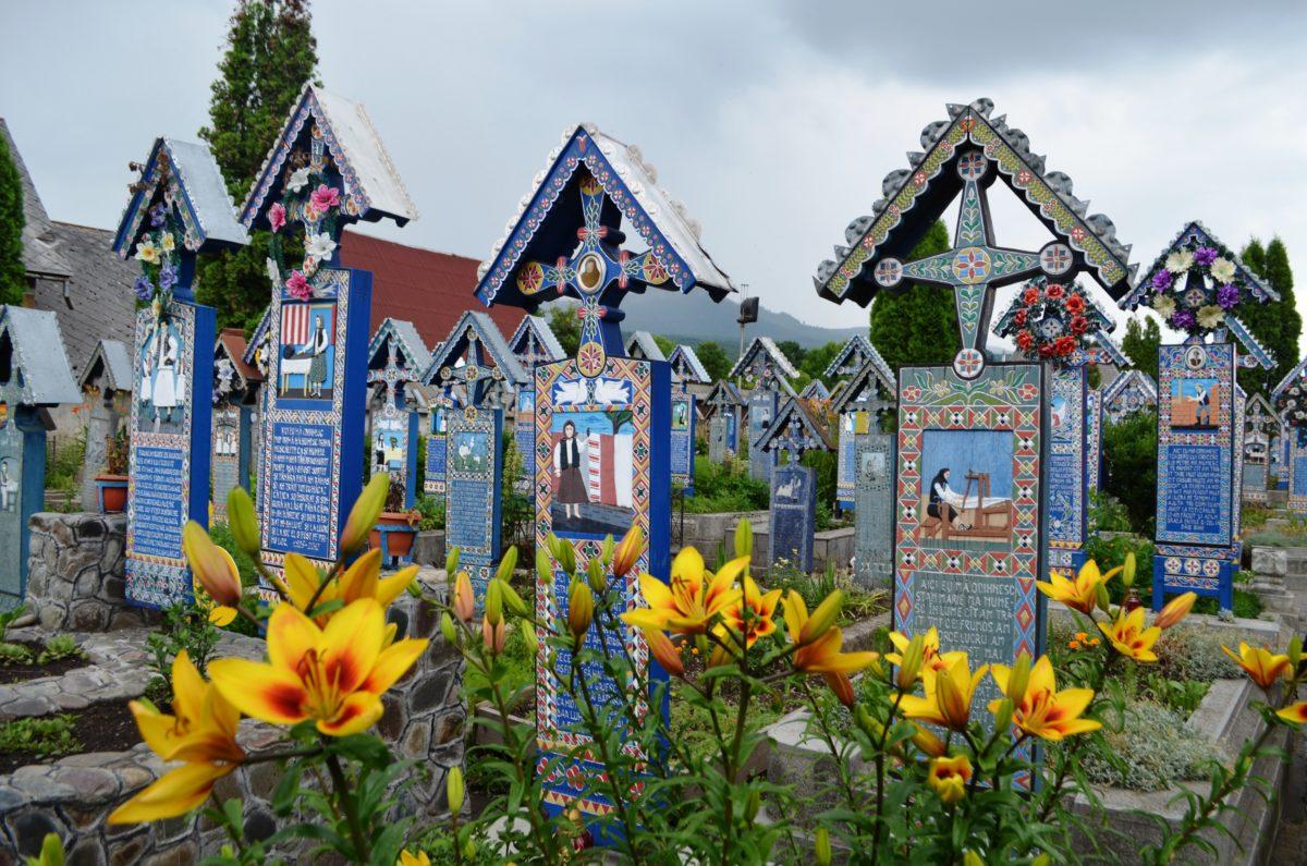 Romania. Happy cemetery
