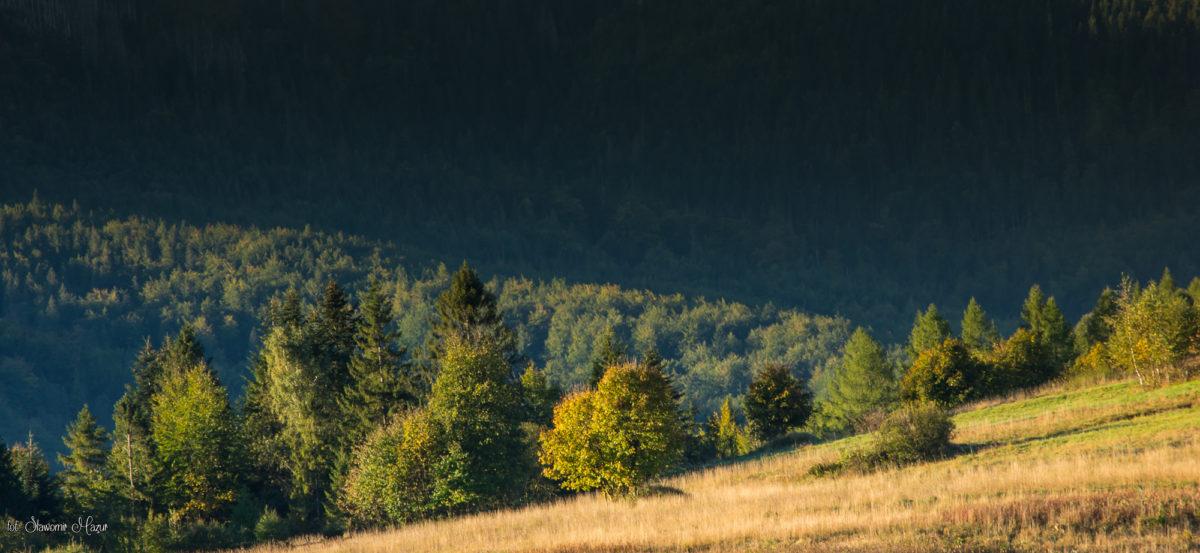 Początek jesieni w górach